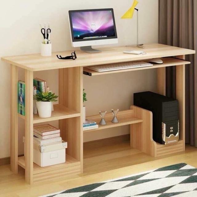 Bàn máy tính gỗ hiện đại đa năng tiện dụng giá sinh viên