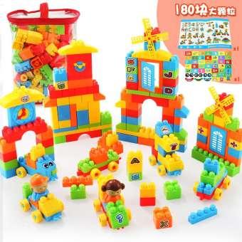 ตัวต่อไม้เด็กของเล่นตัวต่อเลโก้ปริศนา 6-7-8-10 ปีเด็กพลาสติกแทรกเข้า Petpet 1-2-3 ปีหญิง-