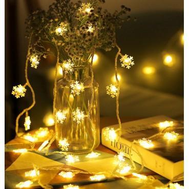 Đèn led/ Đèn nháy/ Đèn trang trí hình bông tuyết dài 5met siêu đẹp