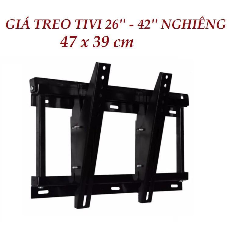 Kệ tivi treo tường ôm sát tường và nghiêng được từ 32' đến 40' tiện dụng