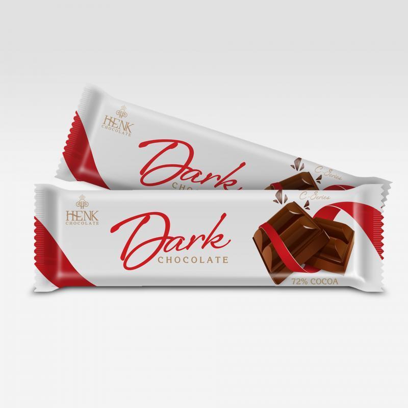Socola thanh 40g Đen (72%) | Henk Chocolate
