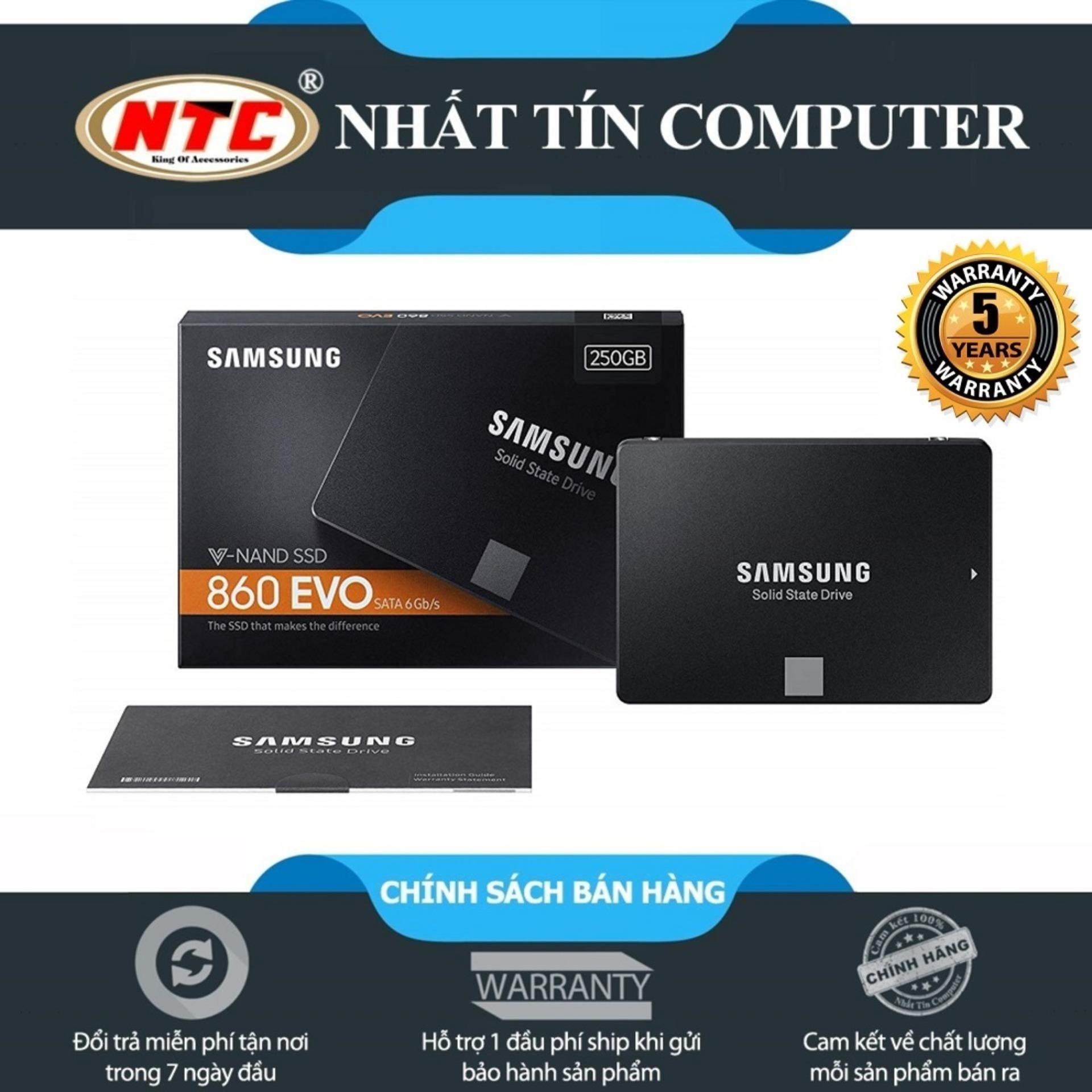 Ổ cứng SSD Samsung 860 Evo 250GB 2.5-Inch SATA III - box Anh (Đen)
