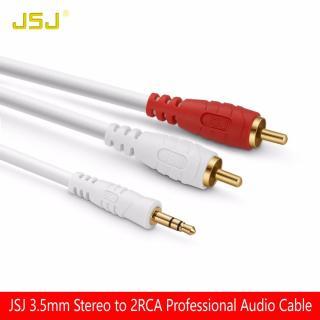 Cáp loa AV đầu 3.5mm ly ra 2 đầu bông sen AV dài 18M - Dây loa 1 đầu 3.5 ra 2 av hiệu JSJ thumbnail