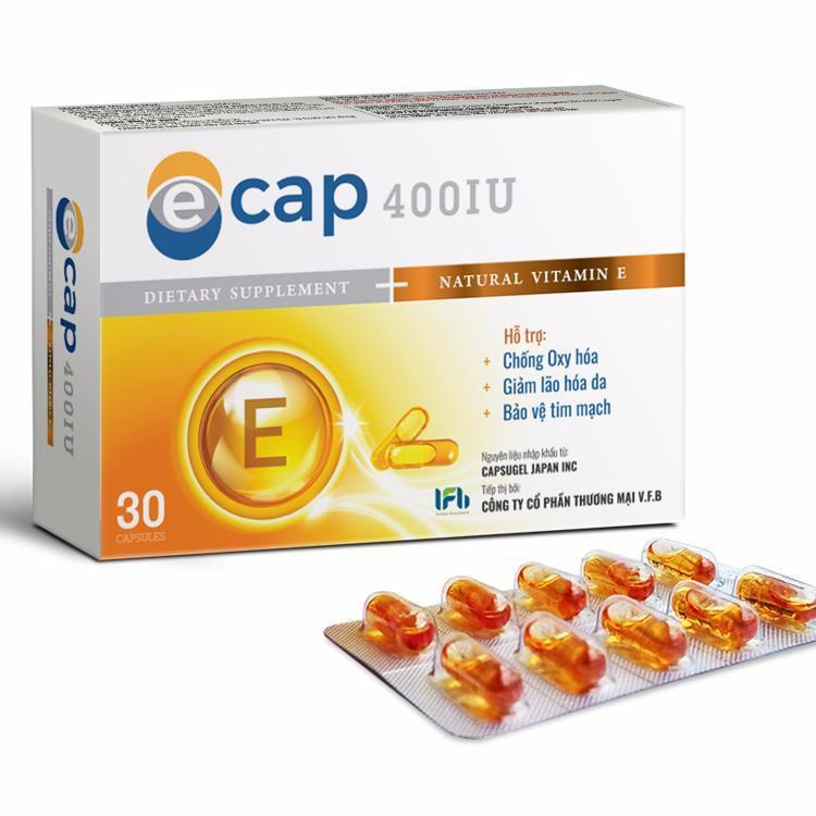 Vitamin E 400IU Ecap giúp đẹp da chống lão hóa của Nhật Bản