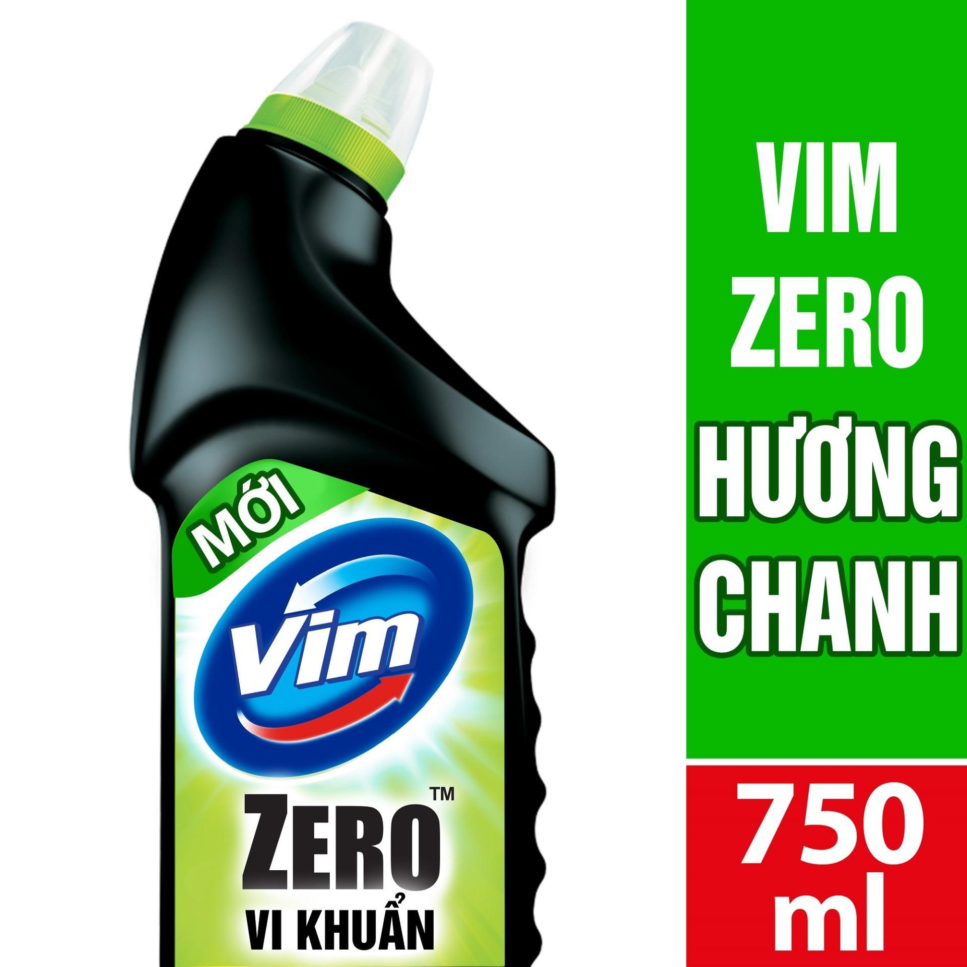 CHẤT TẨY RỬA BỒN CẦU VIM ZERO THƠM MÁT 750ML HƯƠNG CHANH