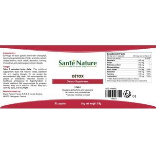 Viên uống giúp hỗ trợ chức năng gan Santé Nature Détox 4