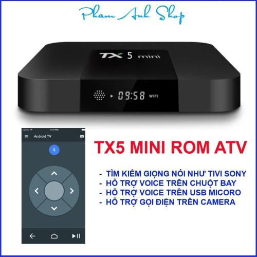 Android TV Box TX5 mini, chạy Android TV OS