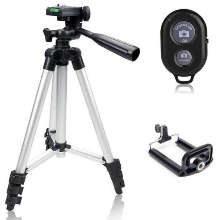 Chân máy ảnh 3 chân tự sướng Tripod TF 3110 và Remote Bluetooth
