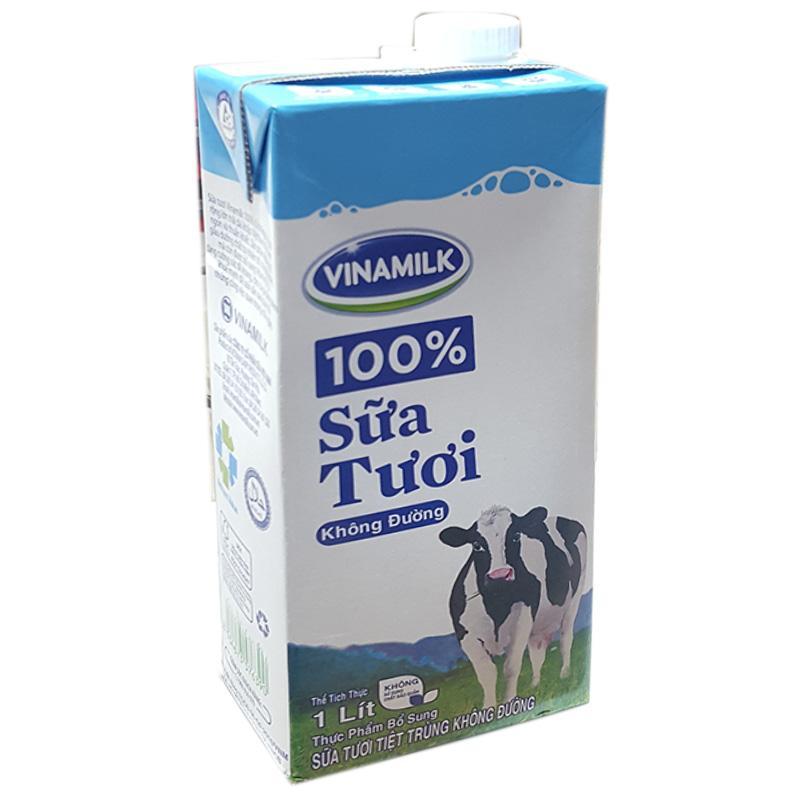 Sữa tươi tiệt trùng Vinamilk không đường hộp 1 lít