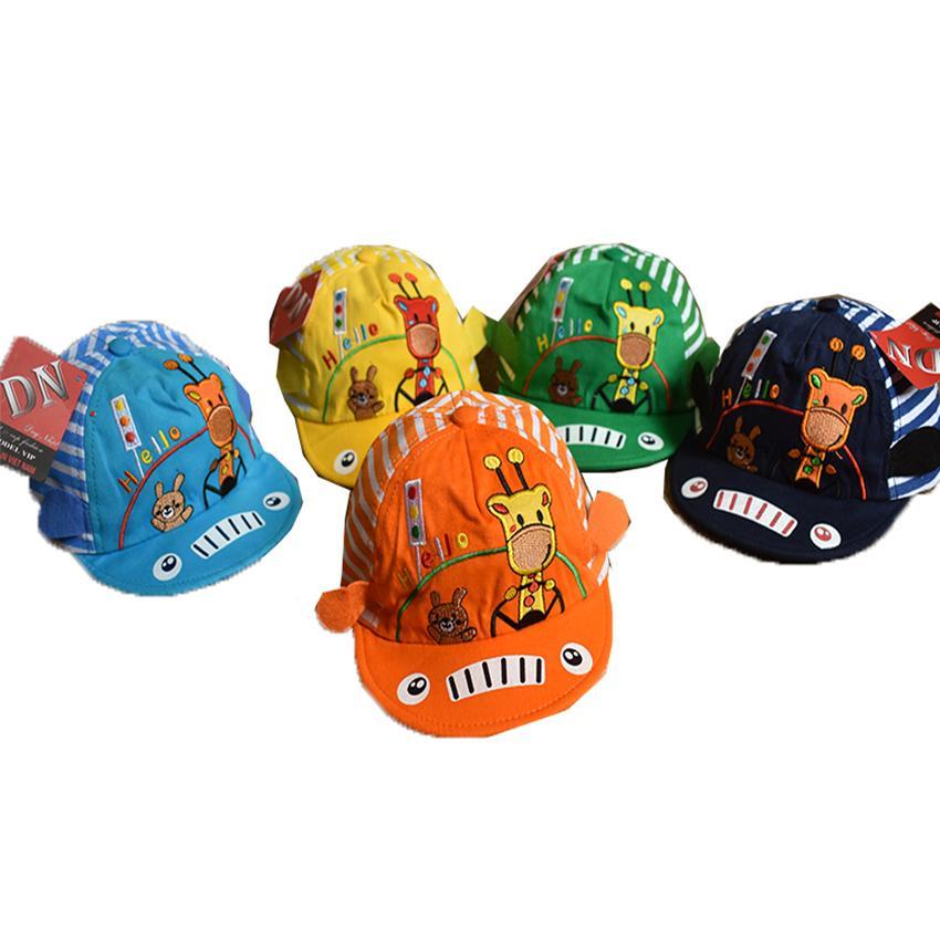 Sale 39k-Mũ lưỡi trai 3DHello cho bé trai thêu Giá Tốt 247