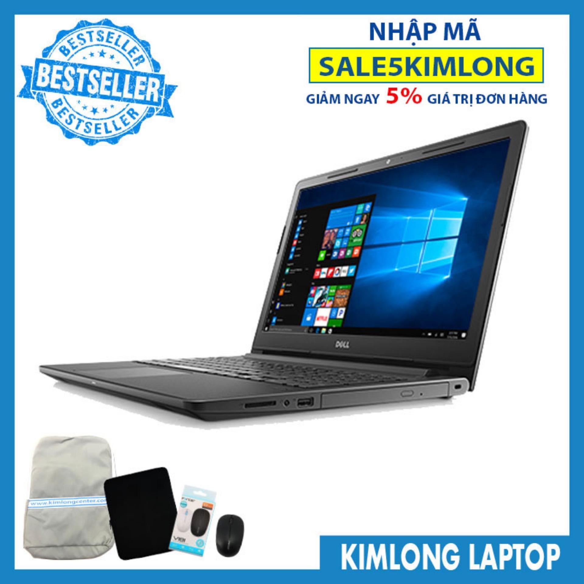 "Laptop Dell Vostro V3568A : i5-7200U 4GB RAM 1TB HDD AMD Radeon® R5 M420 2GB + HD Graphics 620 15.6"" HD Free Dos-KimLongLaptop"