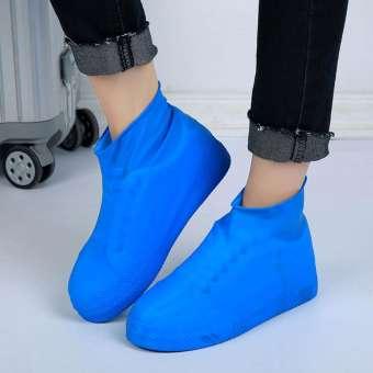 กันน้ำกันลื่น Reusable รองเท้าบูทกันฝนถุงคลุมรองเท้าผู้ชายผู้หญิงรอบ-