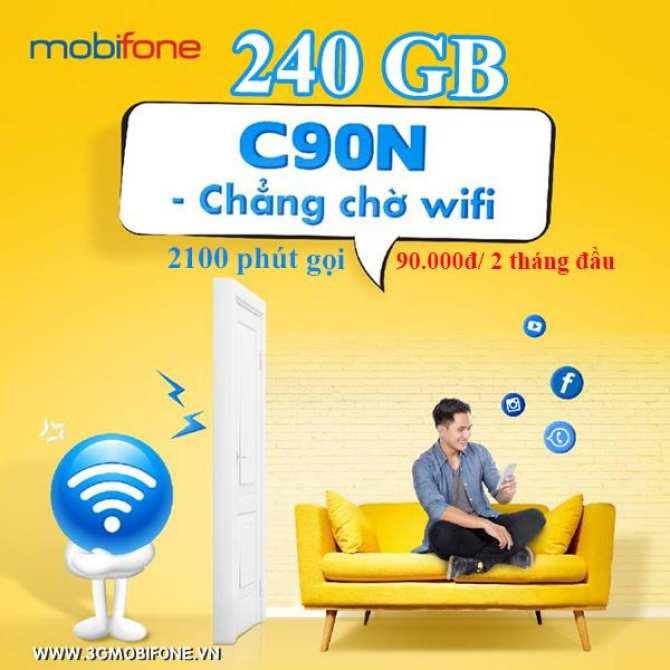 ... [10 số dễ nhớ] SIM MOBIFONE C90N 4G/3G 240GB/tháng + ...