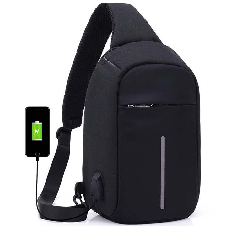 Túi Đeo Chéo Chống Trộm có cổng sạc USB