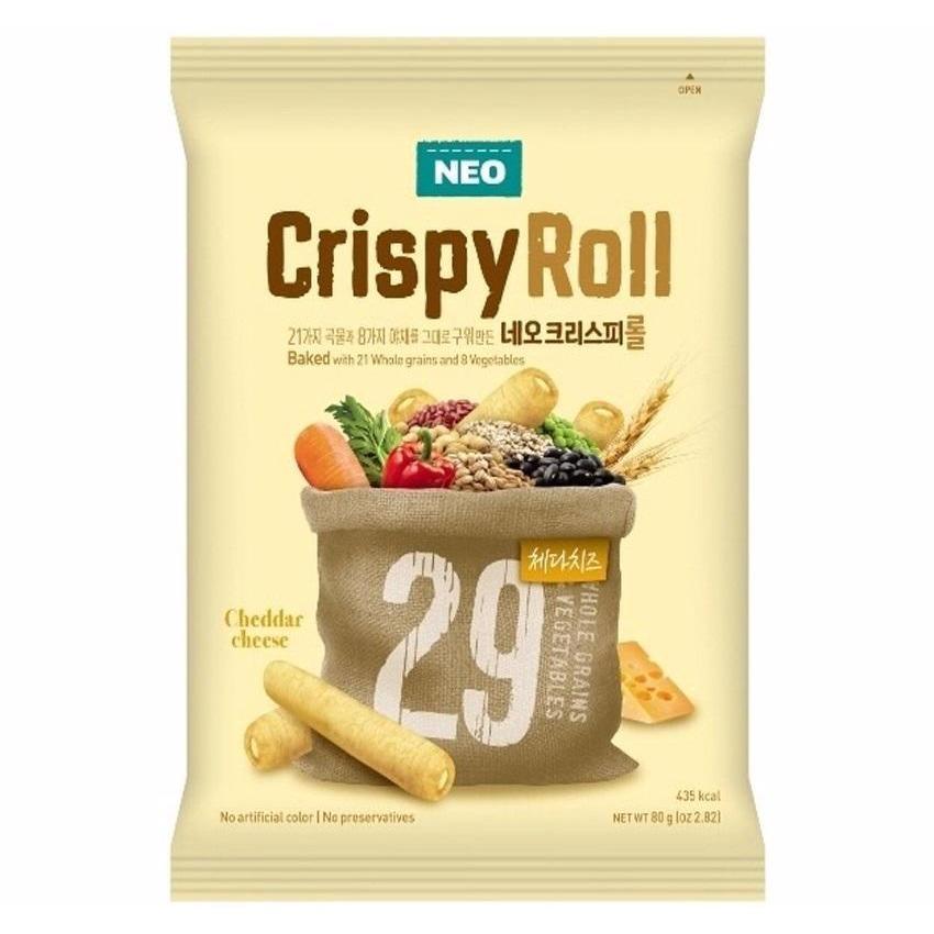 Bánh Crispy Roll vị phô mai 80gr/gói