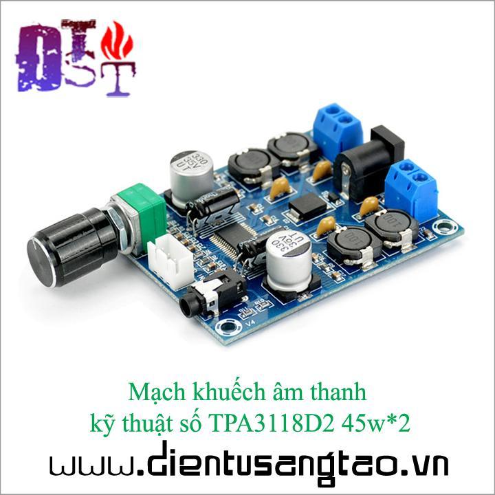 Mạch khuếch âm thanh  kỹ thuật số TPA3118D2 45w*2