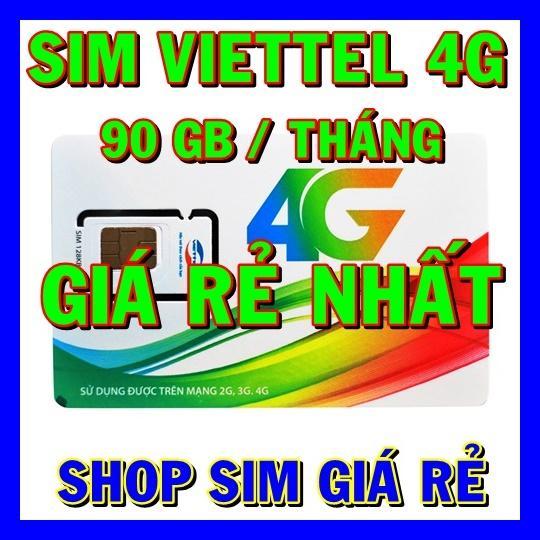SIM 4G - THÁNH SIM 4G VIETTEL MT5C ( 90 GB/THÁNG - 3GB/NGÀY ) - SHOP SIM GIÁ RẺ