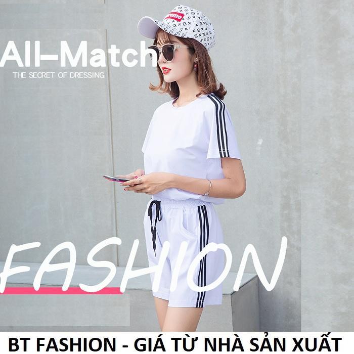 Đồ Bộ Áo Thun Nữ + Quần Đùi Sọt Thun Nữ Thể Thao, Ở Nhà, Đồ Ngủ Thời Trang Hàn Quốc Mới - BT Fashion (ĐBTE2A-3S)