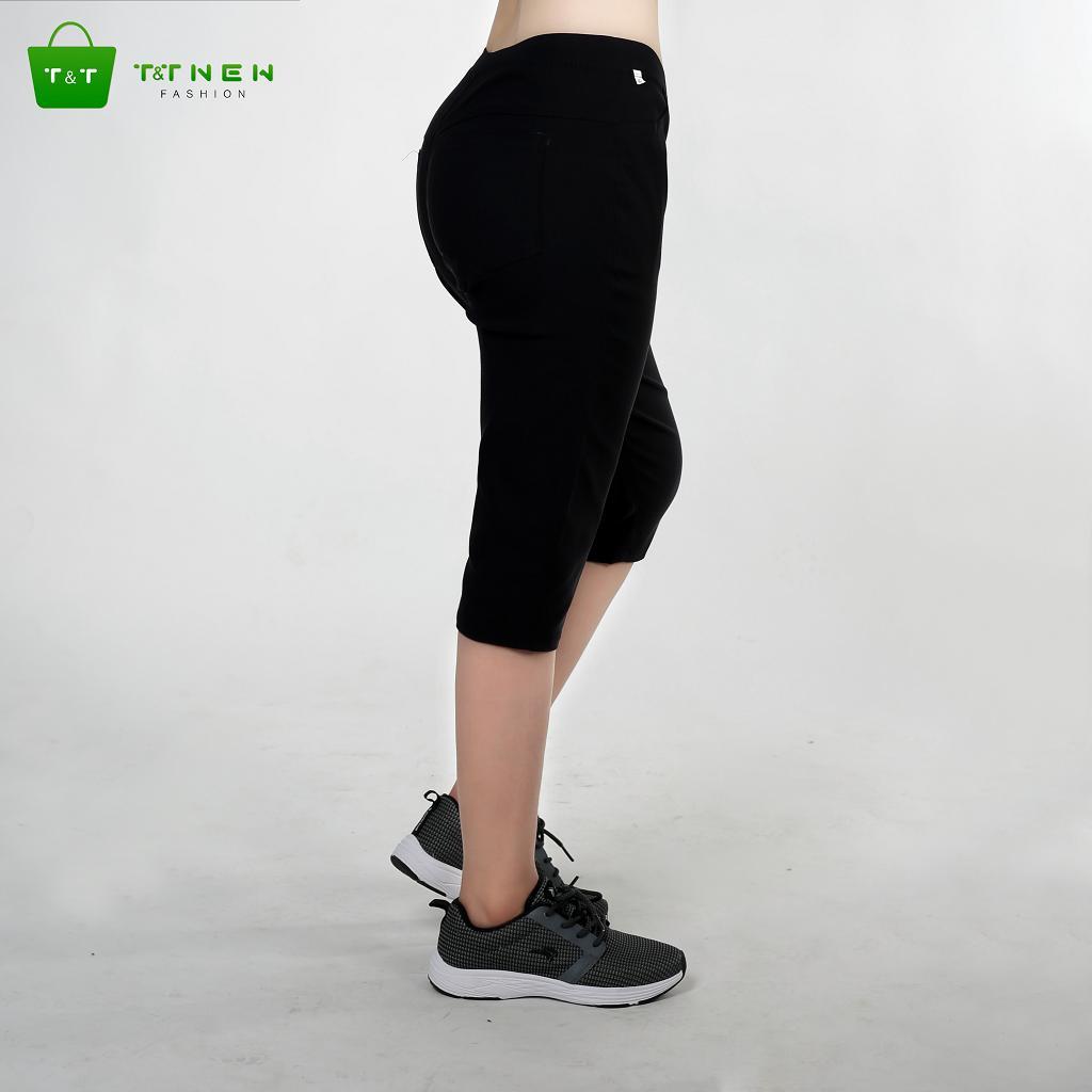 Quần short lửng kaki nữ co giản cao cấp