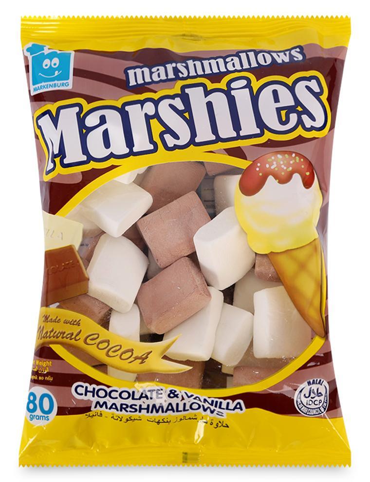 Kẹo Xốp Marshies Markenburg Hương Chocola & Vani Gói 80G