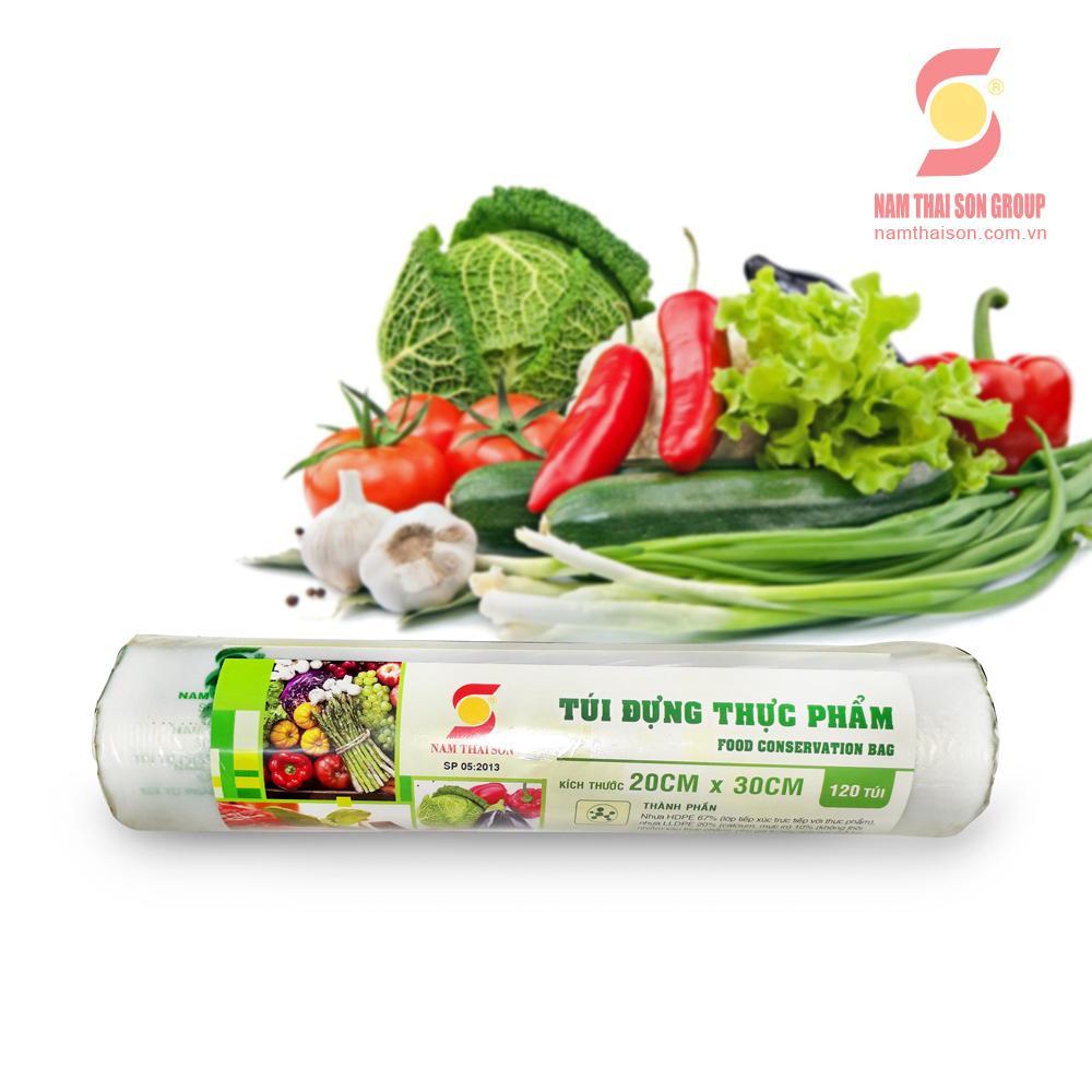 Túi đựng thực phẩm tự hủy sinh Nam Thái Sơn 20x30 (120 túi/cuộn)