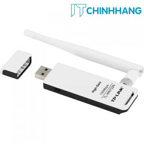 USB kết nối Wifi TP-Link TL-WN722N Chuẩn N 150Mbps - HÃNG PHÂN PHỐI CHÍNH THỨC