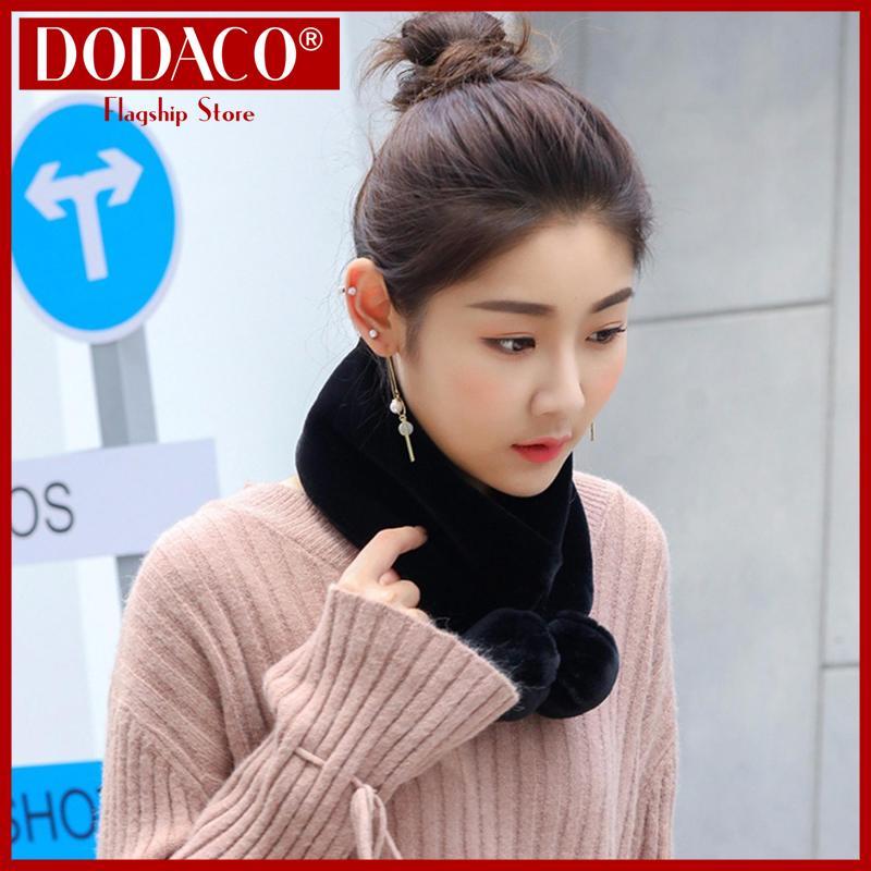 Khăn choàng nữ công sở DODACO DDC2031 Khăn quàng đẹp giá rẻ mẫu mới hot trends 2019 màu đen khan choang nu cong so khan quang dep gia re mau moi mau den