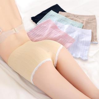 Quần đùi short nữ mặc trong váy gân tăm chất liệu cotton mềm mại thoáng mát siêu co giãn (túi zip loại 1) thumbnail