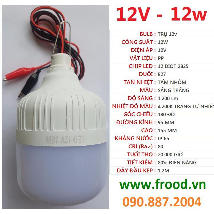 Bóng đèn LED trụ 12v - đủ từ 9w đến 18w