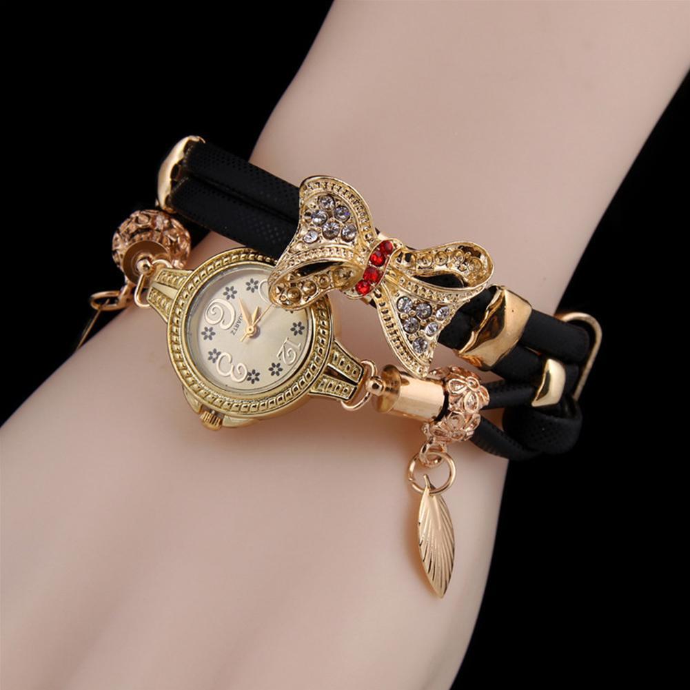 YANYI Women Fashionable Bowknot Design Bracelet Watch Delicate Wearing Accessories