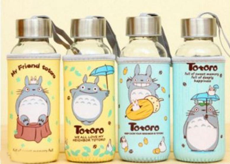 Bình Nước Thủy Tinh Bọc Vải Độc Đáo ( Totoro )
