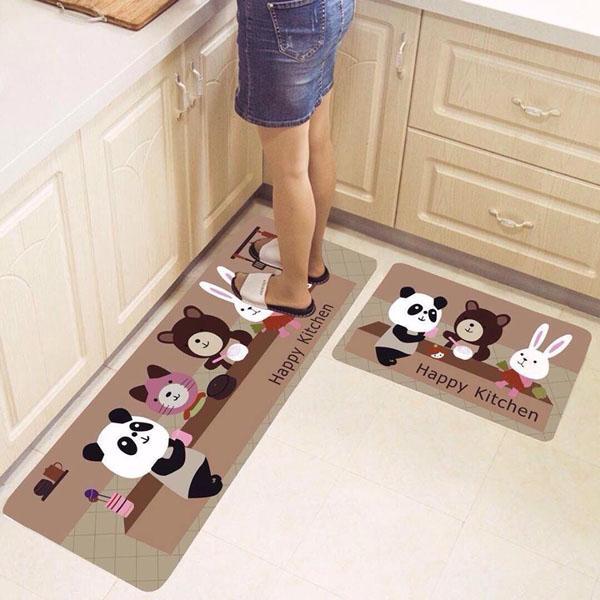 Combo 02 thảm trải sàn nhà bếp ( 120x40 cm và 60x40 cm), Thảm bếp- thảm trải sàn nhà bếp