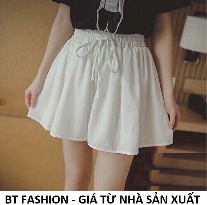 Quần Sọt Đùi Nữ Giả Váy Thời Trang Hàn Quốc Mới - BT Fashion (VA02-VOAN)