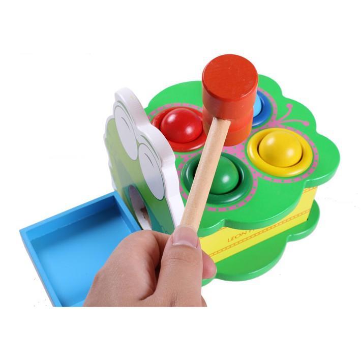 Bộ đồ chơi Đập bóng hình ếch bằng gỗ -...