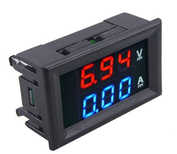 Đồng hồ Vôn Ampe - Đồng hồ điện tử - 0-100v