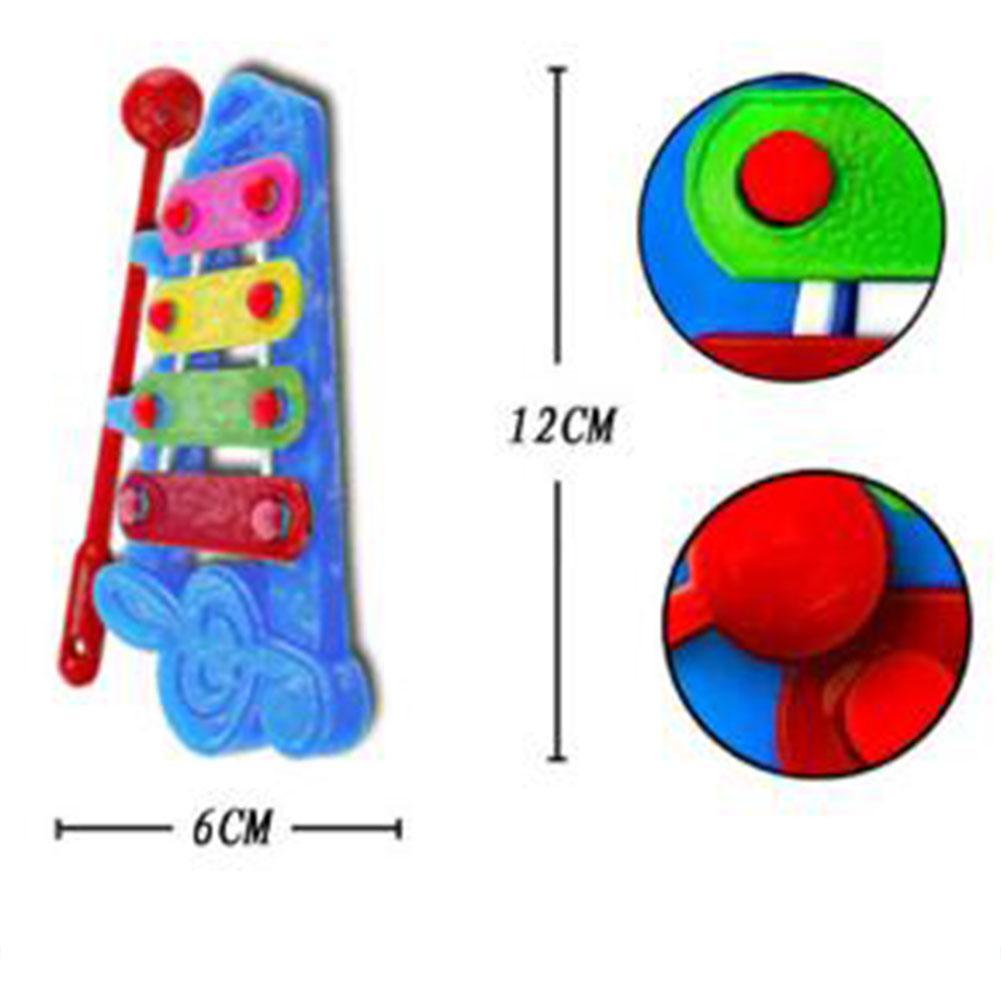 Bayi 4-Catatan Gambang Simulasi Mainan Musik Pengembangan Kecerdasan Musik Budidaya Ketuk Tangan Piano Mainan