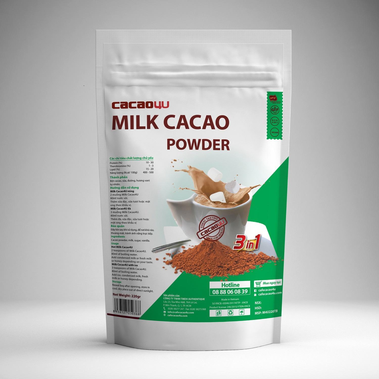 Bột Cacao Sữa Thơm Ngon Tiện Lợi Cho Người Bận Rộn - Milk Cacao - Cacao4U