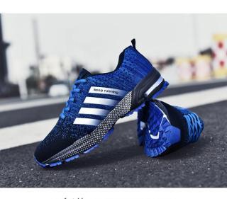 Giày Thể Thao Nam DOHA Shop Tu25 Màu Xanh Phối Đen 2