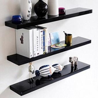 Kệ trang trí treo tường màu đen  KT 60cmx13cm