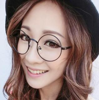 Mắt kính Ngố Nobita Không độ thời trang (Đen) thumbnail