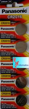Pin CR2016 Panasonic - Vỉ 5 viên - Made in Indonesia