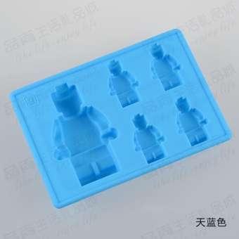 5 แม้แต่ตุ๊กตาเล็ก LEGO หุ่นยนต์ถาดแช่เย็นมินิทำเองแม่พิมพ์น้ำแข็ง DIY ช็อกโกแลตฟงดองแม่พิมพ์
