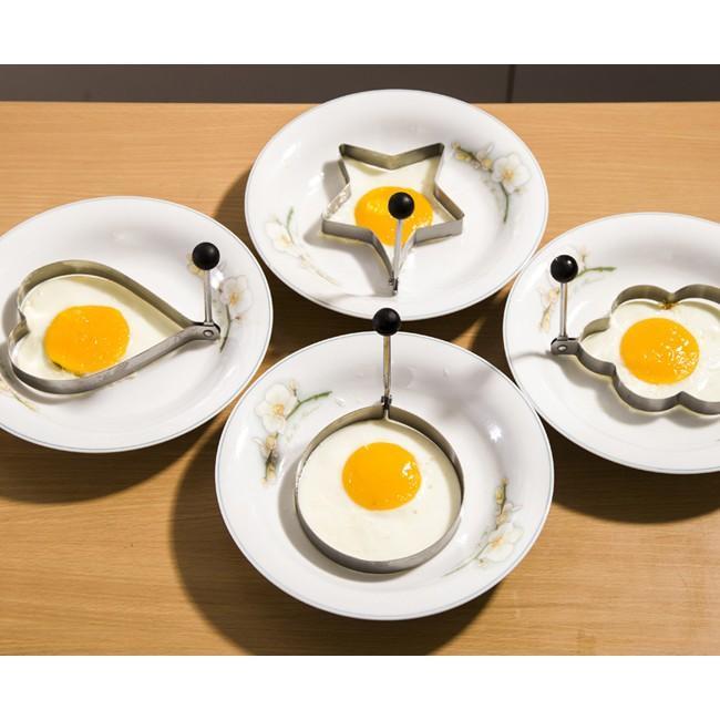 bộ 4 khuôn tạo hình rán trứng inox cao cấp