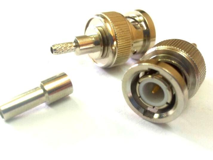Đầu nối dây BNC đực male connector RG174 RG178 RG316