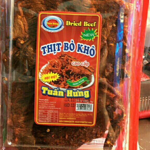 Thịt bò khô nguyên miếng cay