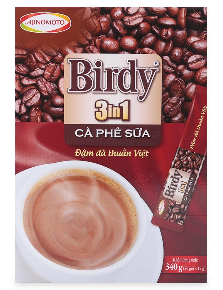 Birdy 3IN1 Cà Phê Sữa Hòa Tan Đậm Đà Thuần Việt - 20 Gói X 17 G