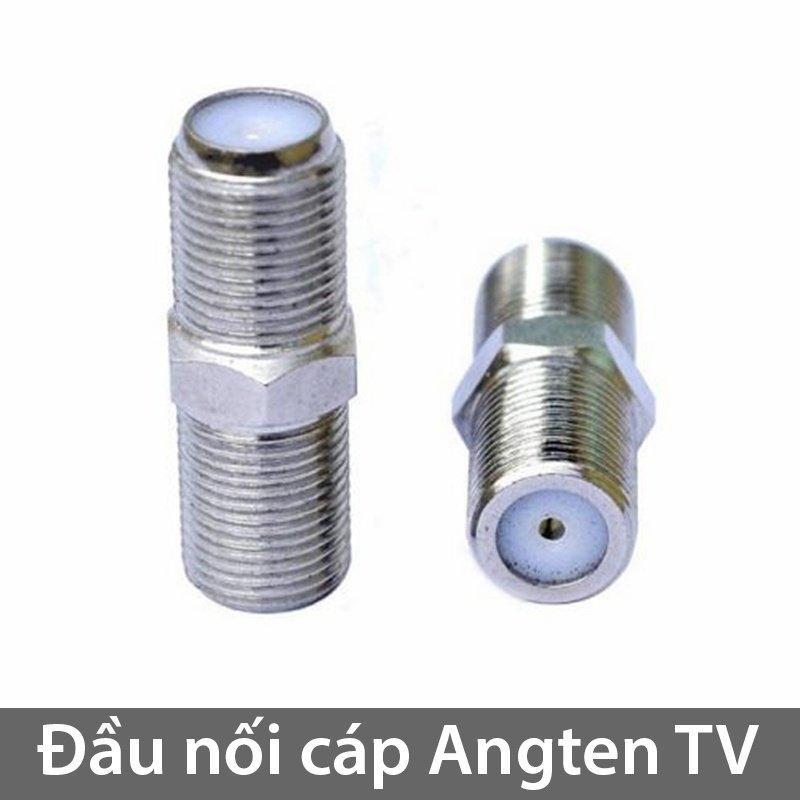 Đầu nối cáp đồng trục Angten TV 2 đầu âm dạng vặn ren (1 chiếc)