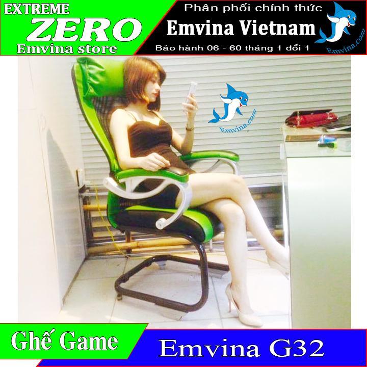 Ghế chơi game G32 lưới chịu lực thép đôi cao cấp chịu trên 120kg da nhập khẩu thailand 2 gối tựa êm ái phù hợp CHƠI GAME VĂN PHÒNG HỌC TẬP GAMING PHÒNG NET huyền thoại chính hãng EMVINA VIETNAM phân phối nhiều màu sắc EMVINA NÂNG NIU BỜ MÔNG VIỆT