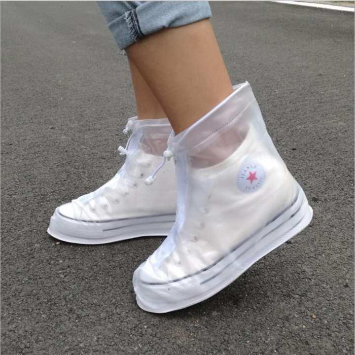Bao bọc giầy đi mưa chống Trơn thời trang. Màu Trắng