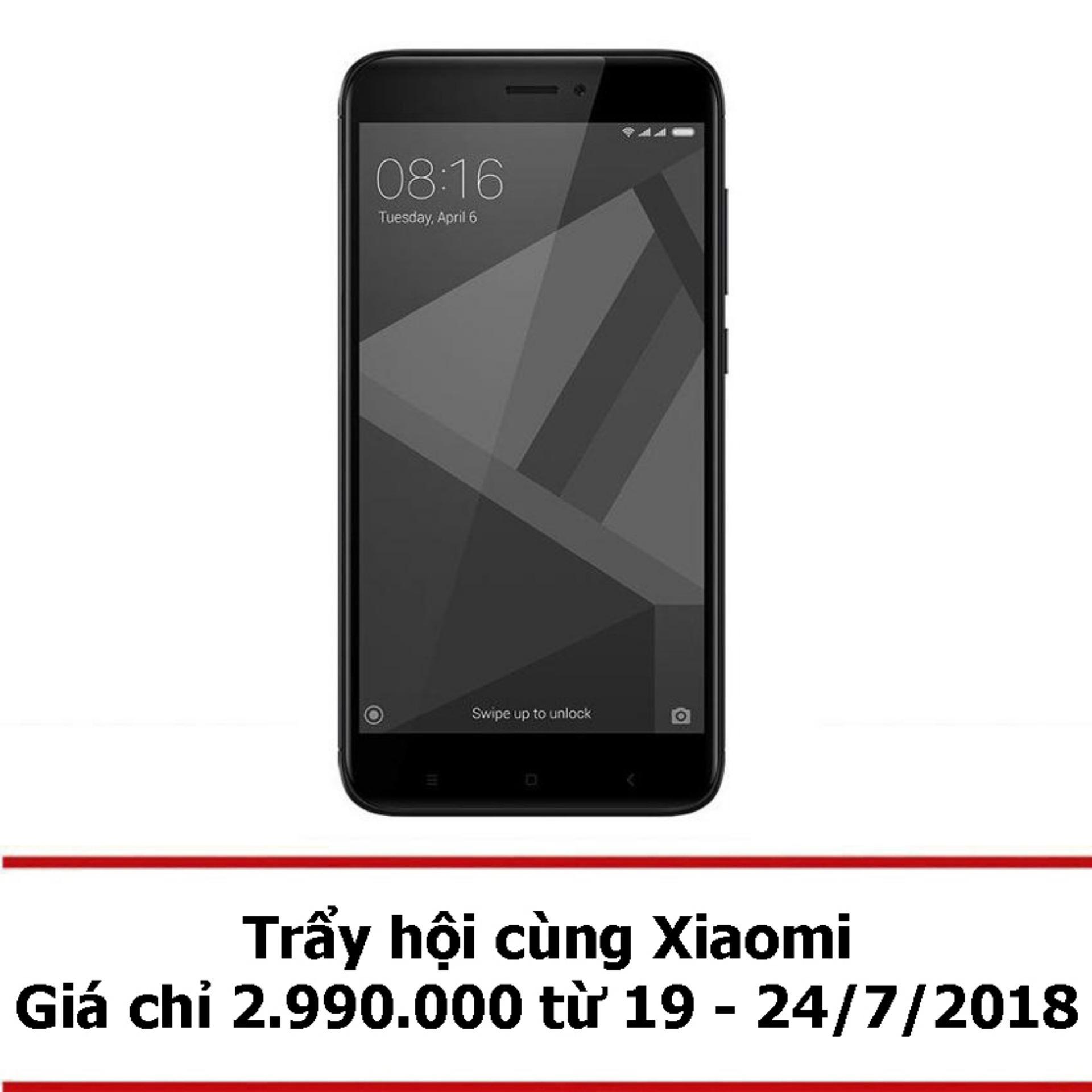 Xiaomi Redmi 4X 32GB 3GB (Đen) - Hãng phân phối chính thức